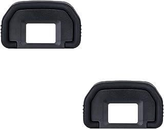 JJC Visor Ocular Eyecup para Canon EOS 6D 6D Mark II 5D 5D Mark II  80D 70D 60D  50D  40D 30D 20Da 20D 10D D60 D30 A2E A2 Cámaras Reemplazo de Canon Eb. Eyepiece (Lote de 2)