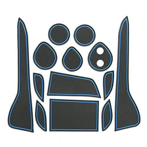 LFOTPP C-HR auto styling binnendeur rubber mat bekerhouder mat auto accessoires rubber mat blauw