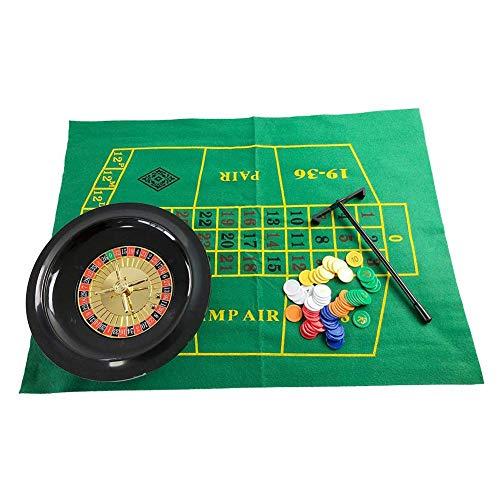 Bouncevi 10 Zoll Roulette Rad Poker Chips Set, Party Roulette Rad Set, Fun Leisure Borad Games Unterhaltung Tischspiele Für Erwachsene Kinder