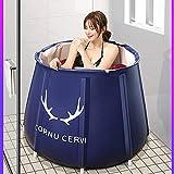 Glück Sheep Blau Badewanne Winter-warmes Wasser Bad for Badezimmer Einfachen Zubehör Faltbare...