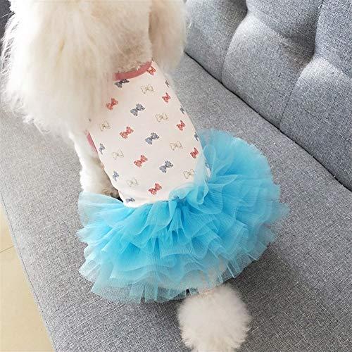 Pet Kleding Cotton Dog Kleding van de Zomer for Princess Chihuahua Vest Small Dog Dress Chihuahua Pug zomerjurkjes Casual Girl CHAOCHAO (Size : XL)