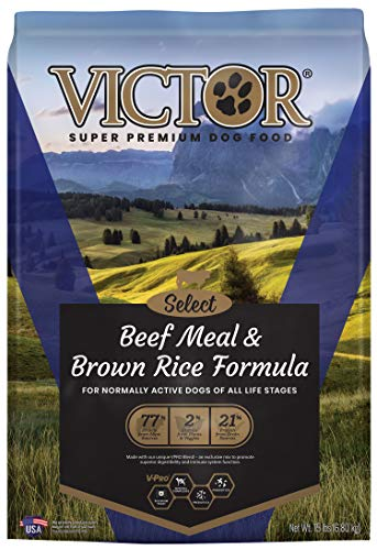 VICTOR Select - Beef Meal & Brown Rice Formula  Dry Dog Food  15-Lb Bag  VICTOR Select - Beef Meal and Brown Rice Formula