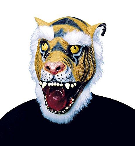 Widmann – Masker tijger met haar en baard, van pluche