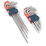 Presch set di 18 chiavi a brugola HX e TX - Set professionale di chiavi a brugola piccole e compatte con supporto pieghevole