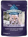 Blue Buffalo Wilderness High Protein Grain Free, Natural Wild Cuts Adult Wet Cat Food Pouch, Chicken 3-oz (pack of 24)
