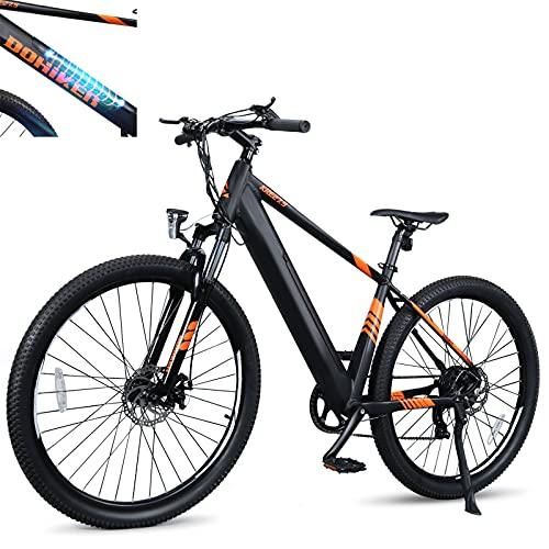 E Bike Höchstgeschwindigkeit 25 km/h Fatbike Batteriekapazität 10Ah Elektrische MTB Mann Mechanische Scheibenbremsen LCD-Anzeige, Schwarz