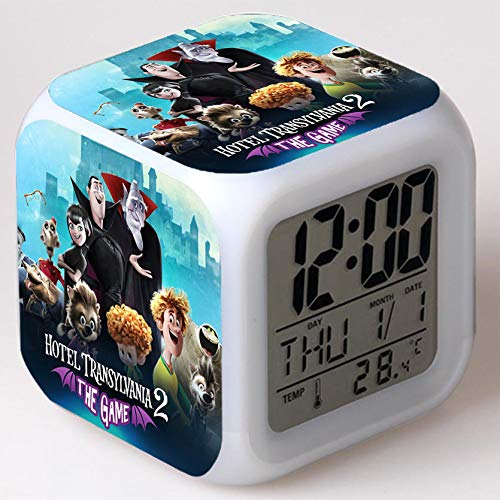 Wizard Hostel Alarm Clocks Kids LED Clock Cartoon Night Light Flash 7 Color Changing Digital Clock Electronic Desk Clock,Style 10, Birthday
