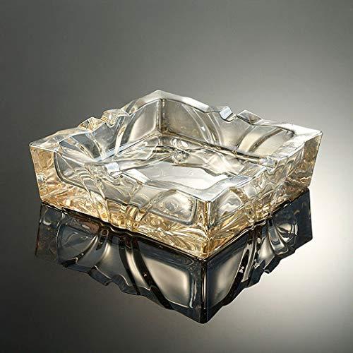 CKH creatieve persoonlijkheid Europese glas asbak kantoor woonkamer salontafel bruin asbak