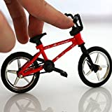 Model Material: Alloy + Plastic Finger bike can be 360 degrees moved, this configuration is the same as real bike configuration. Can exercise your finger flexibility, training coordination ability of the brain. Bike dimension: 12.5*9.3*4.6cm/4.9x3.7x...