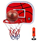 FC Fancy Door Basketball Hoop Mini Wall Mounted Basketball Goal Backboard Rim Indoor Toys Set for Toddlers Kids Child Boys Girls Sport with Ball Pump Family Game Gift