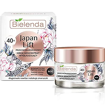 Bielenda Japan Lift - Smoothing Anti-Wrinkle Night Cream Effectively Lifts Tightens The Epidermis Makes It Firmer - Japan Lift Smoothing Antiwrinkle Face Cream - Concentrate 40+ Night - 50 ml by Bielenda
