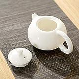 LYPY Teiera in Ceramica Set da tè Kung Fu Pentola Singola in Ceramica Bollitore da tè retrò Fatto a Mano in Porcellana Bianca Set da tè d'Arte Creativa Accessori, X