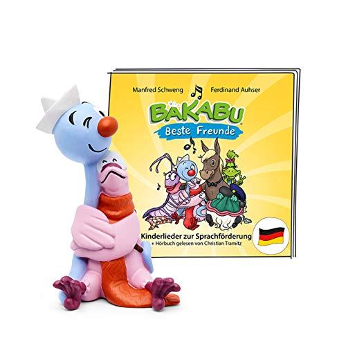 tonies Hörfigur für Toniebox, Kinderlieder: Bakabu – Beste Freunde, Hörbuch und Lieder für die sprachliche Frühförderung, für Kinder ab 3 Jahren, Spielzeit ca. 37 Minuten