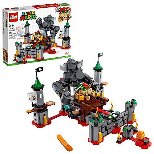 LEGO Super Mario Bowser's Castle Boss Battle Expansion Set 71369 Building Kit; Collectible Toy for Kids to Customize Their Super Mario Starter Course (71360) Playset, New 2020 (1,010 Pieces)