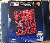 MLB Boston Red Sox Double Sided No Sew Fleece Blanket Kit
