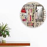 Tbqevc Diseño cosmético del Reloj de Pared de Las señoras para el Reloj de Pared de la decoración del hogar y de la Sala de Estar 12 Pulgadas
