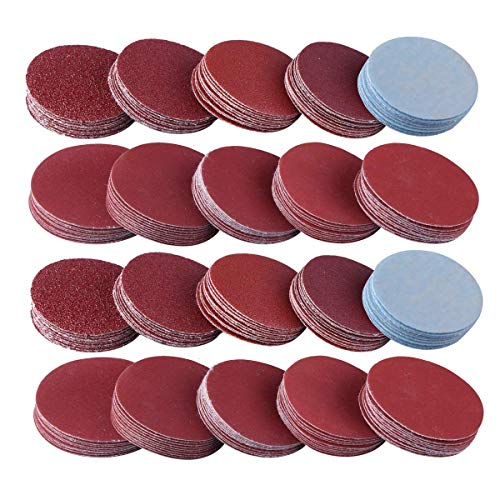 100枚セット サンドペーパー 75mm マジック式 ディスクペーパー マジック式 電動サンダー用 サンディングパット 80、100、180、240、600、800、1000、1200、2000、3000 10種の粒度 各10枚