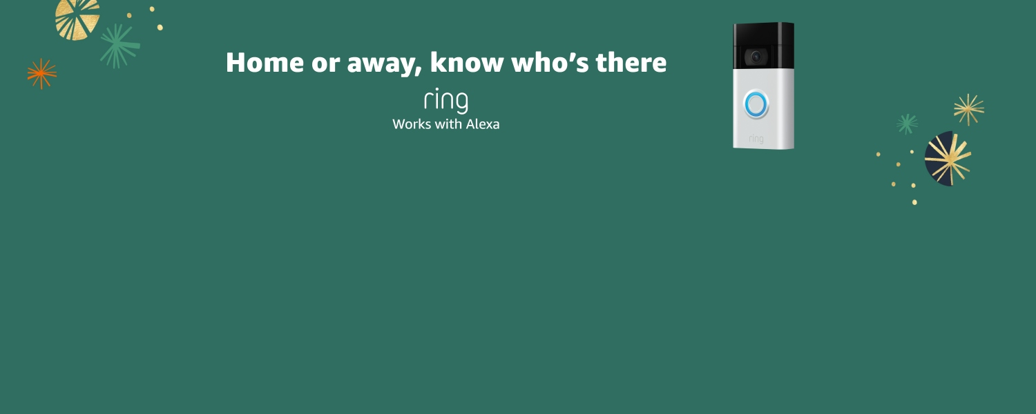 Home or away, know who's there. Ring. Works with Alexa.