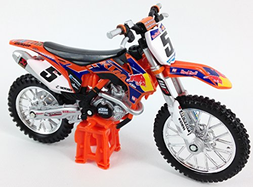 Ryan Dungey Fabrik RedBull-KTM SXF-450 Motocross Motorrag Druckgegossen Spielzeug Modell 1:18