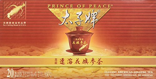 Prince of Peace Ginseng Tea Value Pack (3 Pk, 60 Bags)