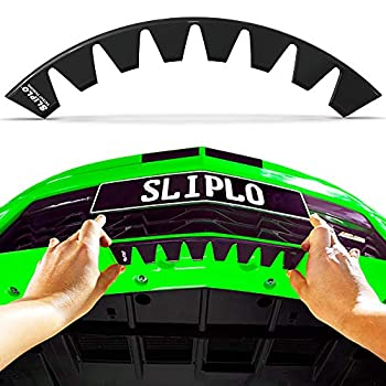 SLIPLO Universal Front Bumper Scrape Guard Skid Plate Bumper Protection for Lowered Cars Carbon Fiber Splitters and Aftermarket bumper lips Anti-Scratch DIY Bumper Protector Kit