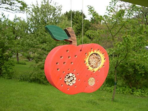 Insektenhotel Apfel rot