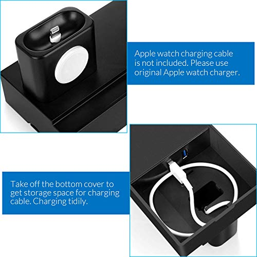 Wireless Charging Stand, CHGeek 8 in 1 Wireless Charger Station with 2 USB Ports Charging Dock Pad for Apple Watch Series 1/2/3/4, Airpods 1/2, Apple Pencil, iPhone 11/11Pro(Max/Xs/X Max/XR/X/8/8Plus