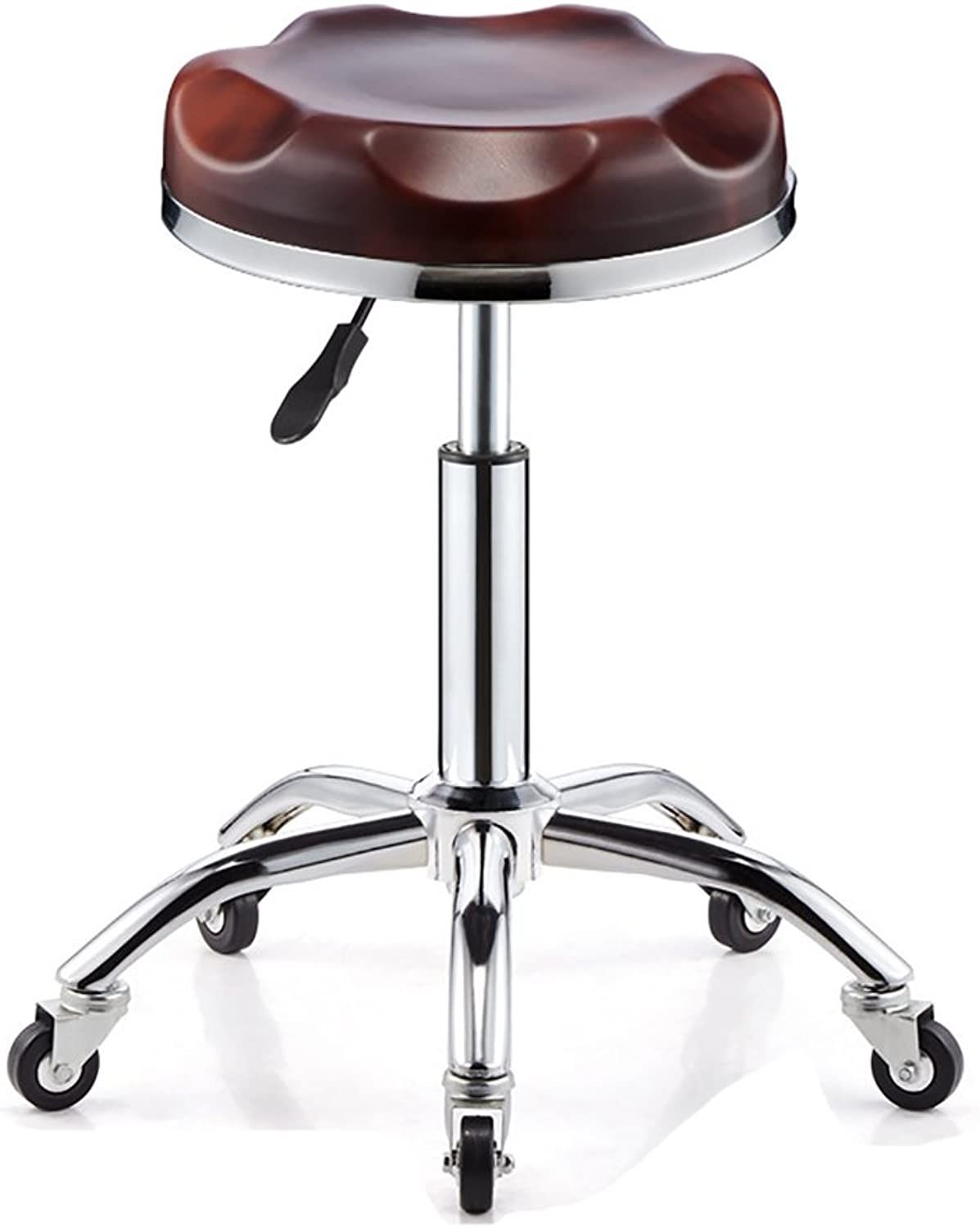Bar chair Soft Bar Stools with Chromed Framework,360 Degree redary Chairs,Explosion-Proof (color   5, Size   32cm)
