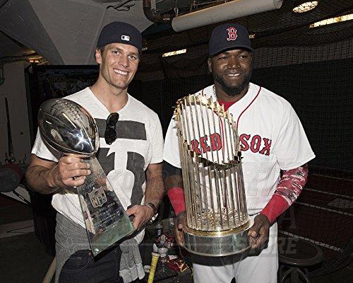 Tom Brady David Ortiz Red Sox Patriots Champions 16x20 photo 4716