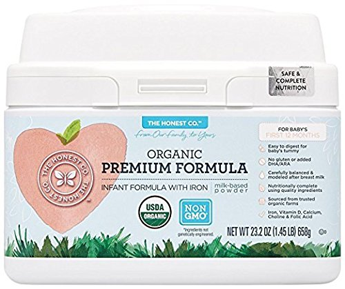The Honest Co. Organic Non-GMO Premium Infant Formula with Iron, 23.2 Ounce
