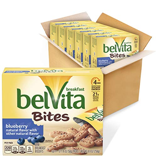 belVita Breakfast Biscuit Bites Blueberry Flavor 6 Boxes 5 Packs Per Box