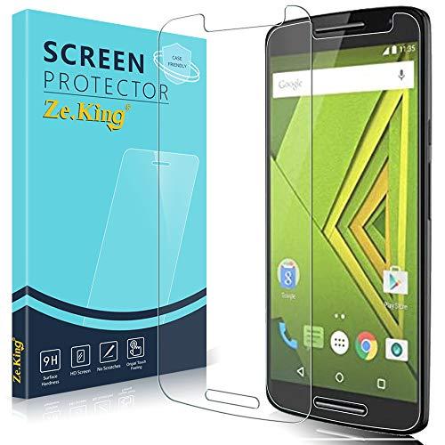 Zeking [2-Pack]Motorola Moto Droid Maxx 2 Tempered Glass, Moto X Play Screen Protector 9H Hardness [Anti Scratch][Anti-Fingerprint] Bubble Free
