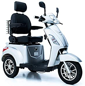 GreenPower 3 Wheeled Electric Mobility Scooter (Silver)
