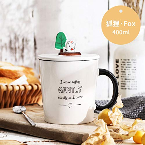Keramische mok kop koffie mok mobiele telefoon stand cartoon Animal Fox mode eenvoudig cadeau doos Europese retro creatieve fijne servies