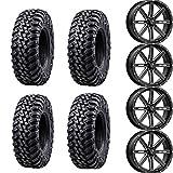 Bundle Package- Four 32x10-15 Tusk TERRABITE Tires on Four MSA M41 BOXER Wheels - Quantity of 4 - 4/137 Bolt Pattern - Fits: Honda Talon Pioneer 1000R 1000X 1000-5 1000