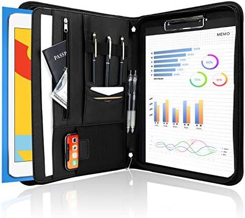 ProCase Portfolio Binder Leather Padfolio File Folder Zipper Notepad Business Legal Document product image