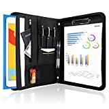 ProCase Portfolio Binder, Leather Padfolio File Folder Zipper Notepad Business Legal Document Holder