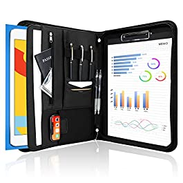 ProCase Portfolio Business Padfolio Folder with Zipper, Conference Meeting Executive File Legal Document Organizer with…