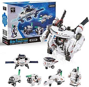 STEM 7-in-1 Solar Robot Kit DIY Building Set (200 Pieces)
