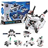 STEM Toys 6-in-1 Solar Robot Kits Space Toys DIY Building Set Science Experiment Kit Engineer Building Activities for Kids Learning & Education Toys Powered by The Sun (200 Pieces)