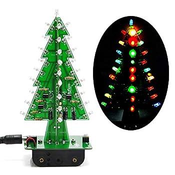 Gikfun 3D Xmas Tree Led DIY Kits 7 Color Flash Circuit LED EK1697