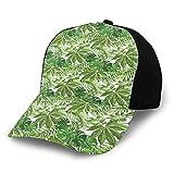 VJSDIUD Gorra de Beisbol Unisex Classic 3D Baseball Cap Trucker Hat Mix of Jungle Foliage Leaves Madagascar Aloha Botanical Forest Plant