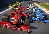 wandmotiv24 Fototapete Formel 1 Grand Prix S 200 x 140cm - 4 Teile Fototapeten, Wandbild, Motivtapeten, Vlies-Tapeten Rennwagen, Auto-rennen, Sport-wagen M0385