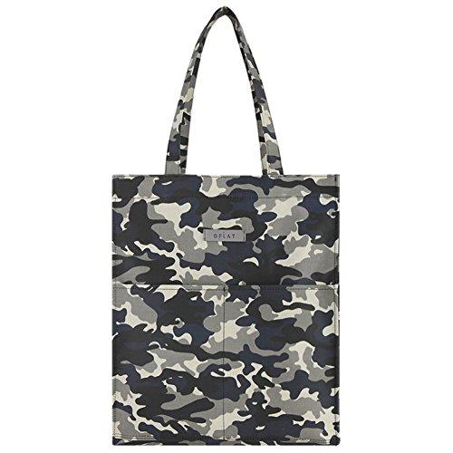 Sac à dos d'école tendance décontracté carré, sac à bandoulière (Military)