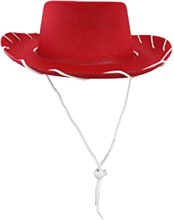 Child Western 1950's Style Kids Cowboy Ranch Hat, Red, One Size