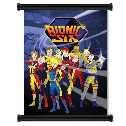 Bionic Six: Cartoon Wall Scroll Poster 16' x 21' inches (Fabric Cloth)