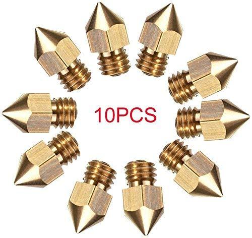 CCTREE 10pcs 0.4mm MK8 Estrusore Ugello per