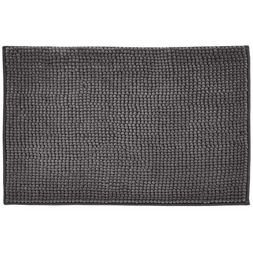ZQJD - Tappetino antiscivolo per cucina, bagno, bagno, acqua, antiscivolo, per camera da letto, comodino e doccia morbido, 60 x 90 cm, colore: grigio