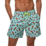 Lachi Bañador para hombre con bolsillos y forro de malla Piña verde XL