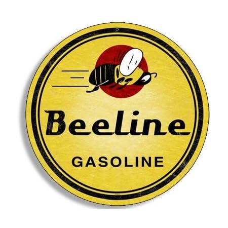 4x4 inch Round Vintage Lion Gas Sticker Gasoline Logo Old Rat Rod